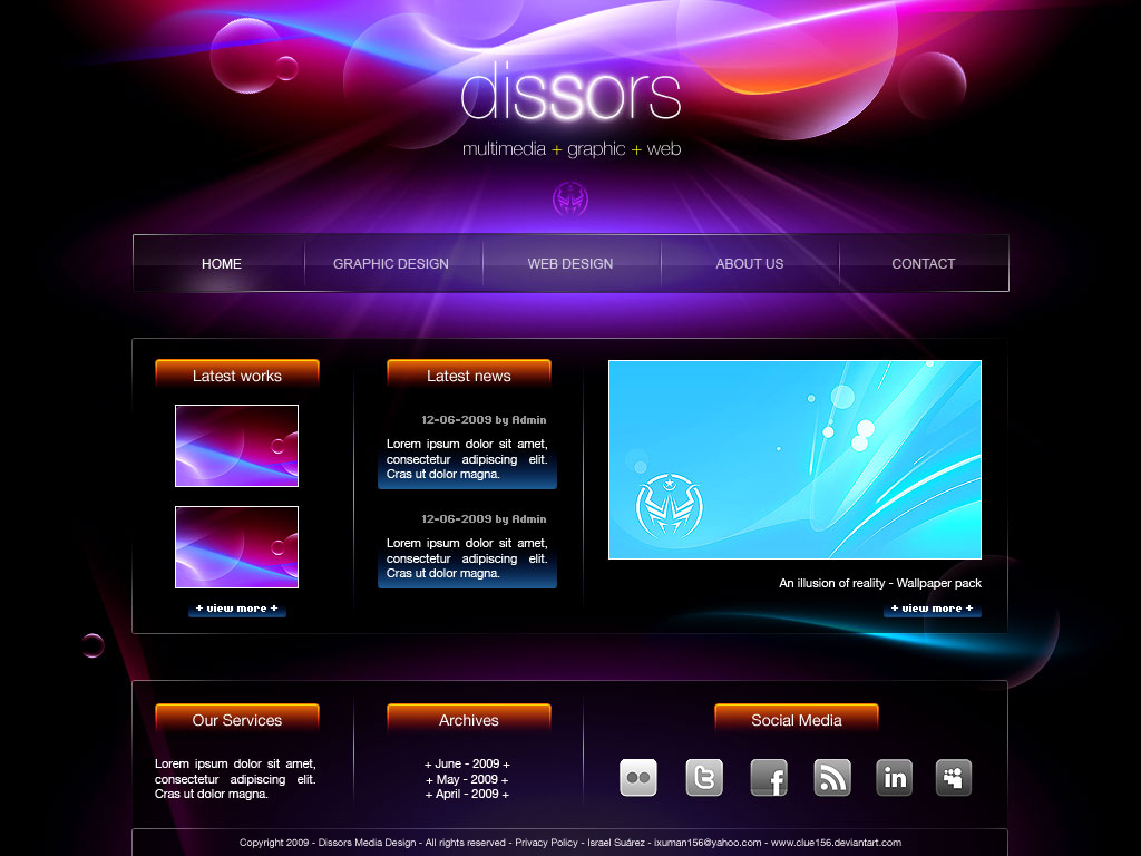 12 Web Design Templates For Dreamweaver Images Web Design Website