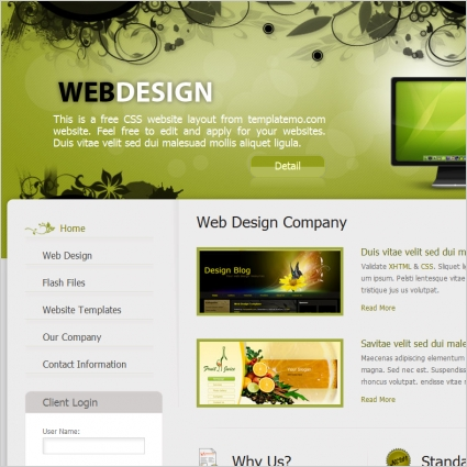 web template designing