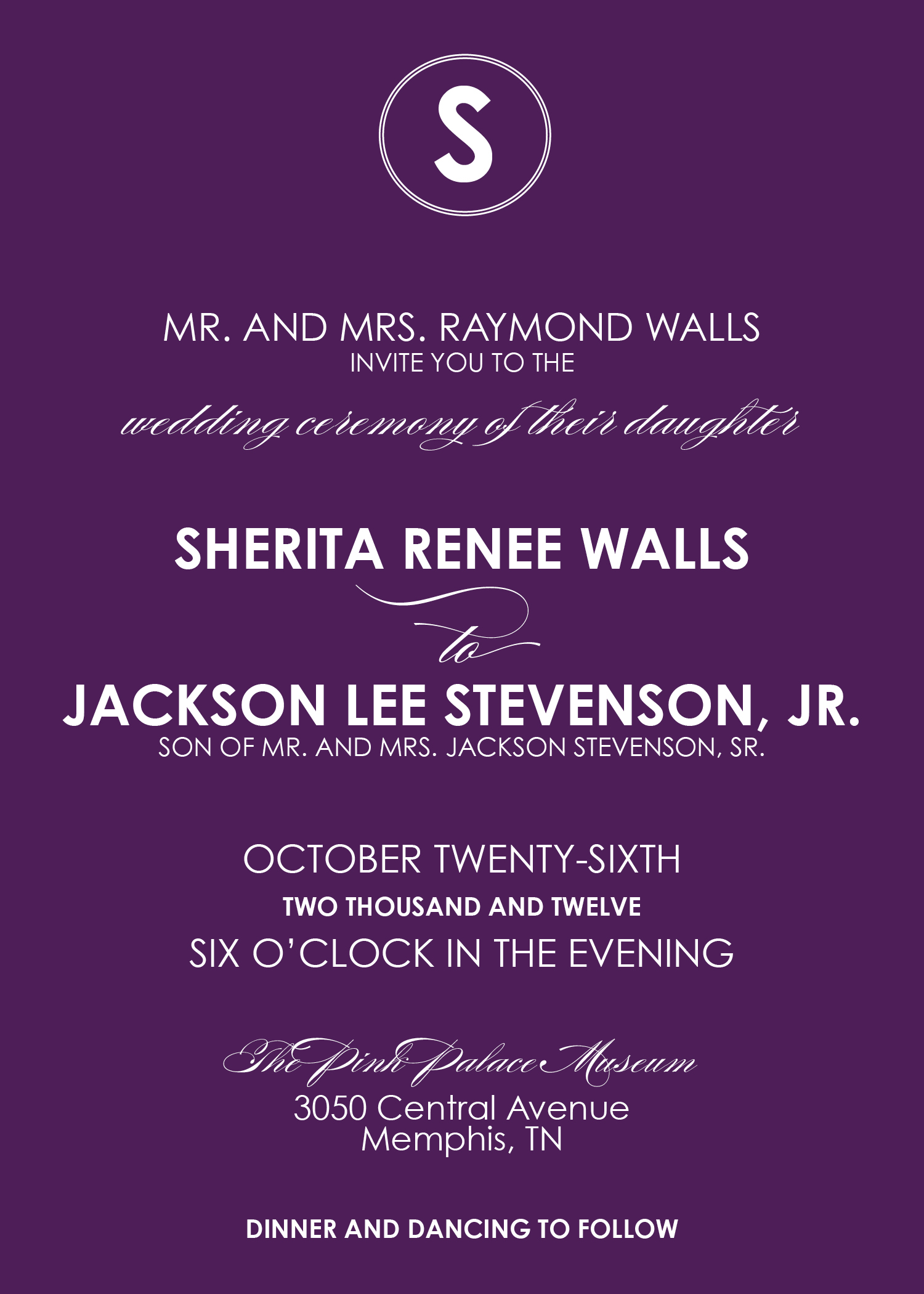 Wedding Invitation Block Font