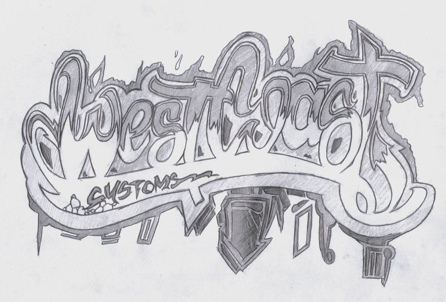 12 West Coast Graffiti Font Images