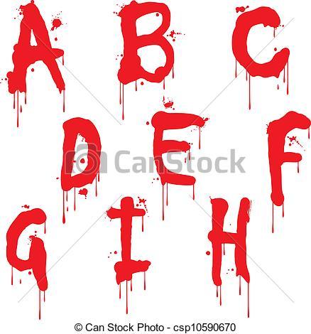 12 Wet Letter Fonts Images