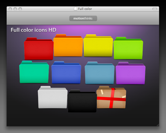 19 Colored Folder Icons For Mac Images - Color Folder Icons, Color