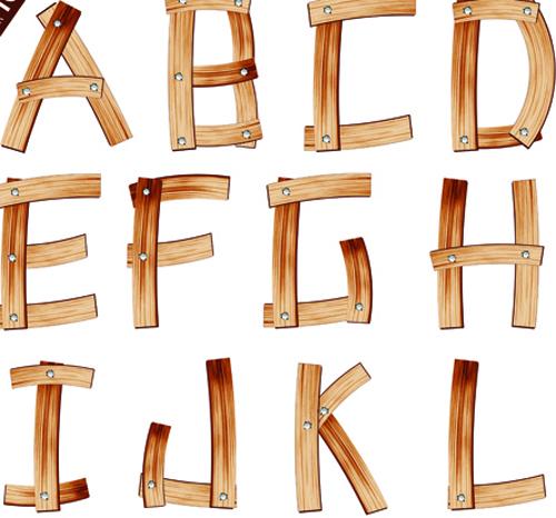 Wooden Alphabet Font Download