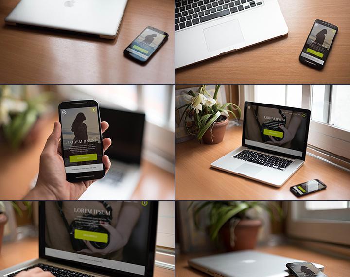 10 Smartphones Free PSD Mockups Images