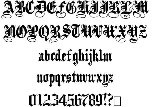 13 Gothic Black Font Images