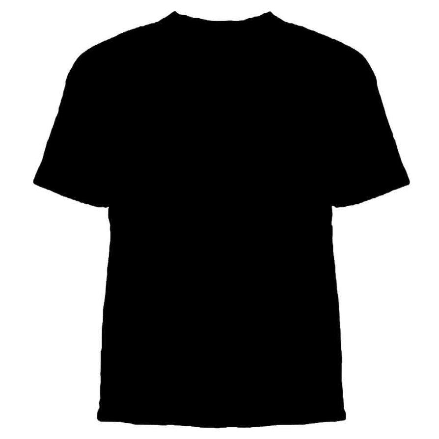 Black t shirt vector free - Black T Shirt Back And Front Template Black T Shirt Template Photoshop