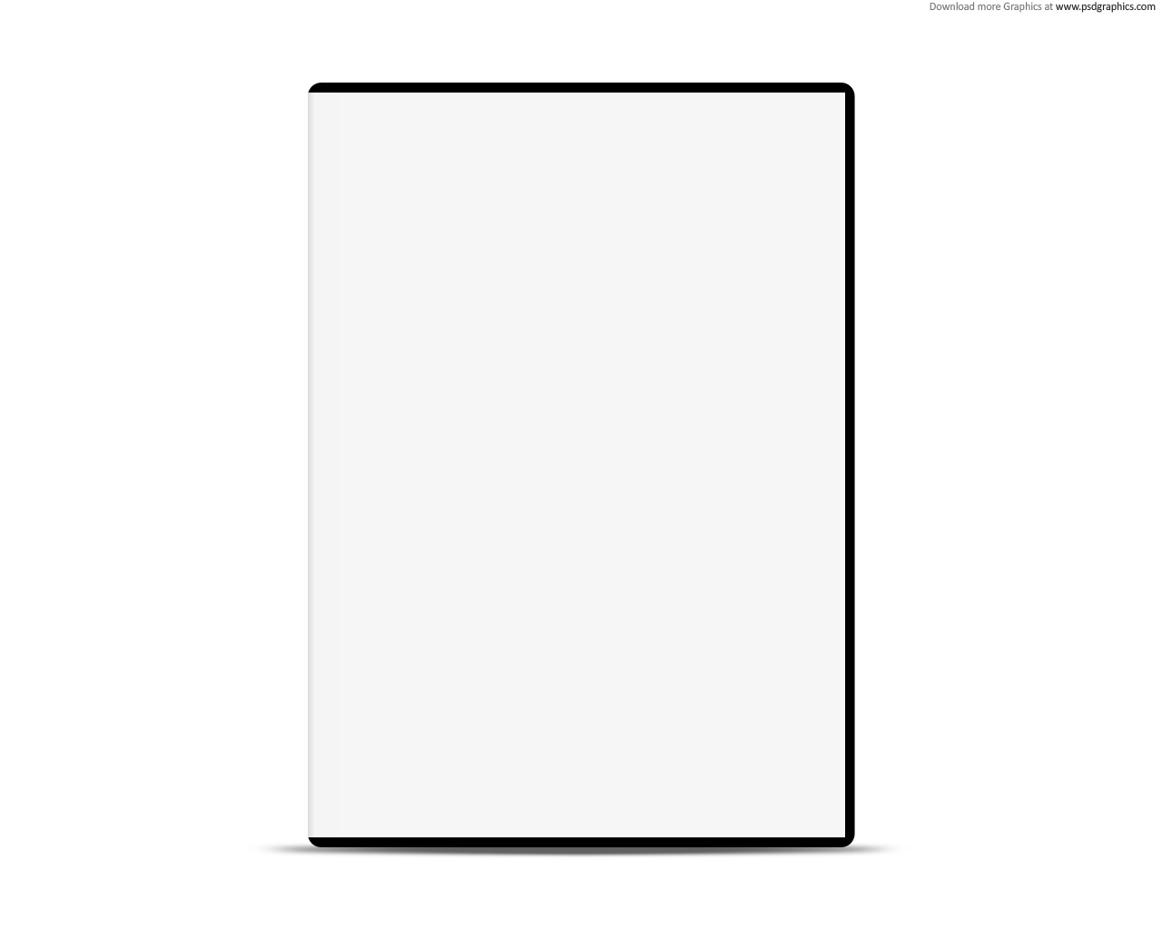 Blank DVD Case Cover Template
