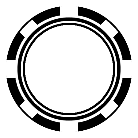 Blank Poker Chip Template
