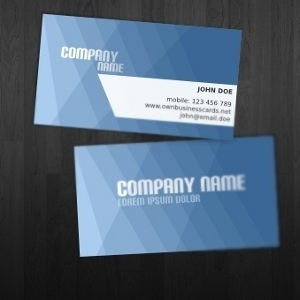 9 Blue Vector Business Cards Images