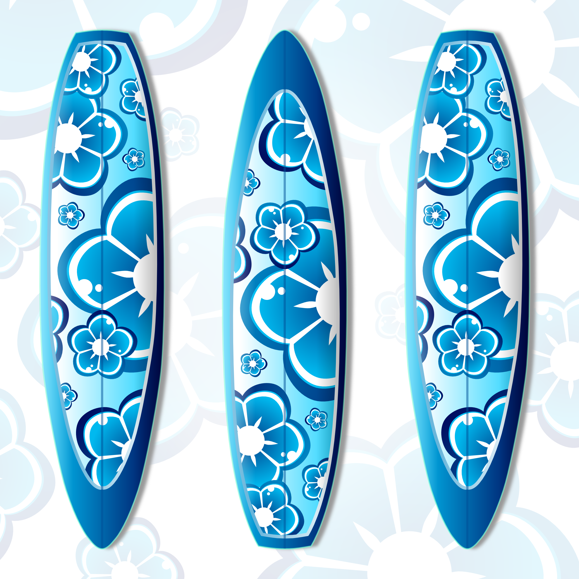 12 Surfboard Vector Graphics Images