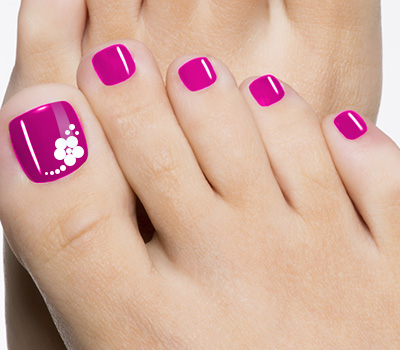 Blue Toe Nail Flower Designs