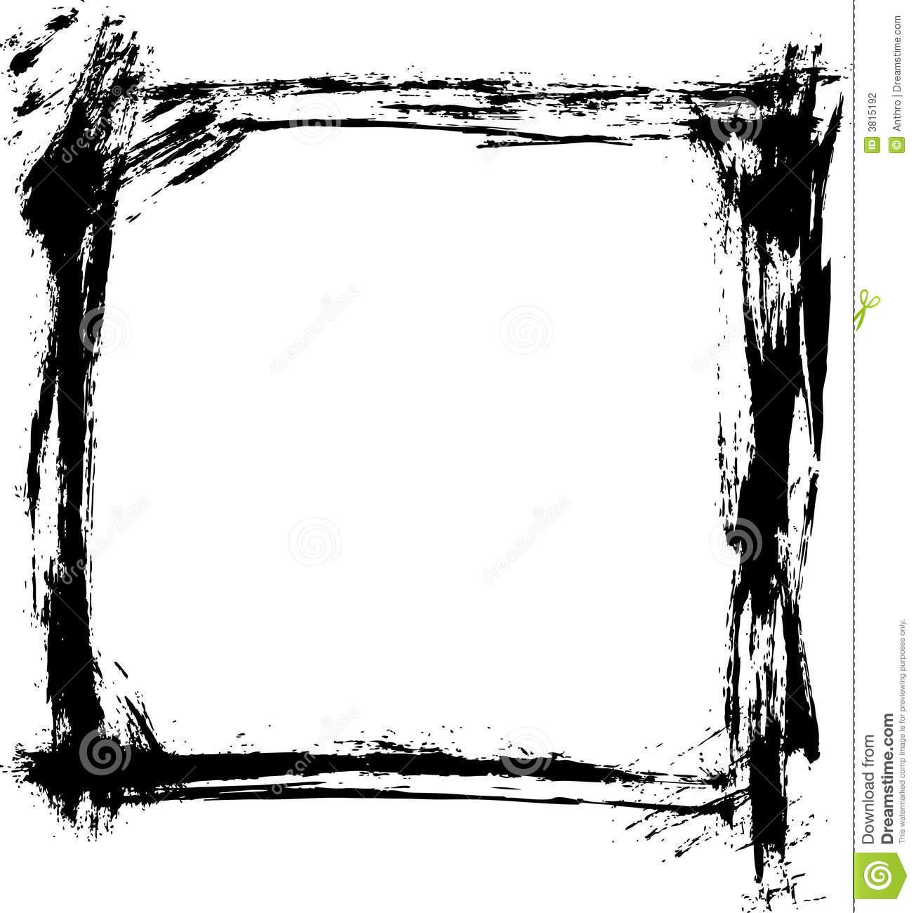 17 Vector Brush Frame Images