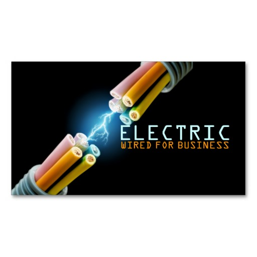 Business Card Electrical Wires