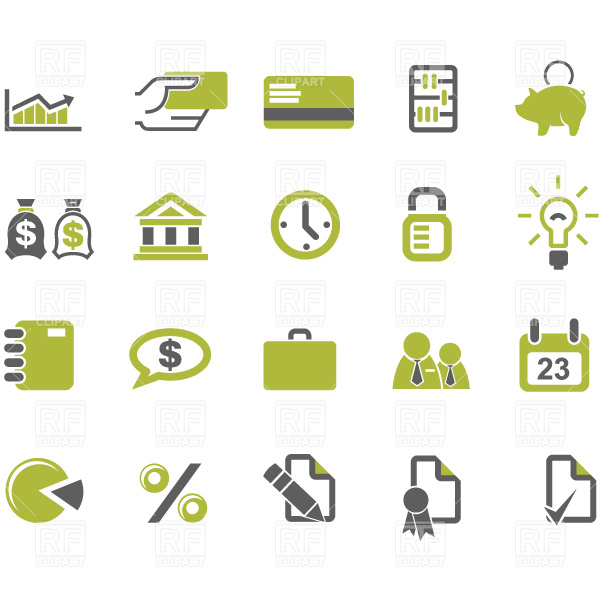 12 Free Clip Art Business Icons Images