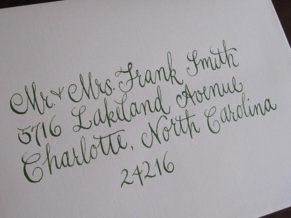 Calligraphy Font Wedding Invitation Envelopes