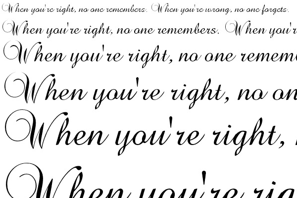 Calligraphy Writing Fonts