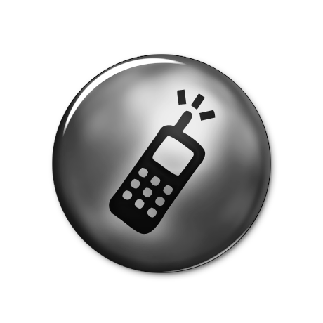 Cell Phone Icon Button