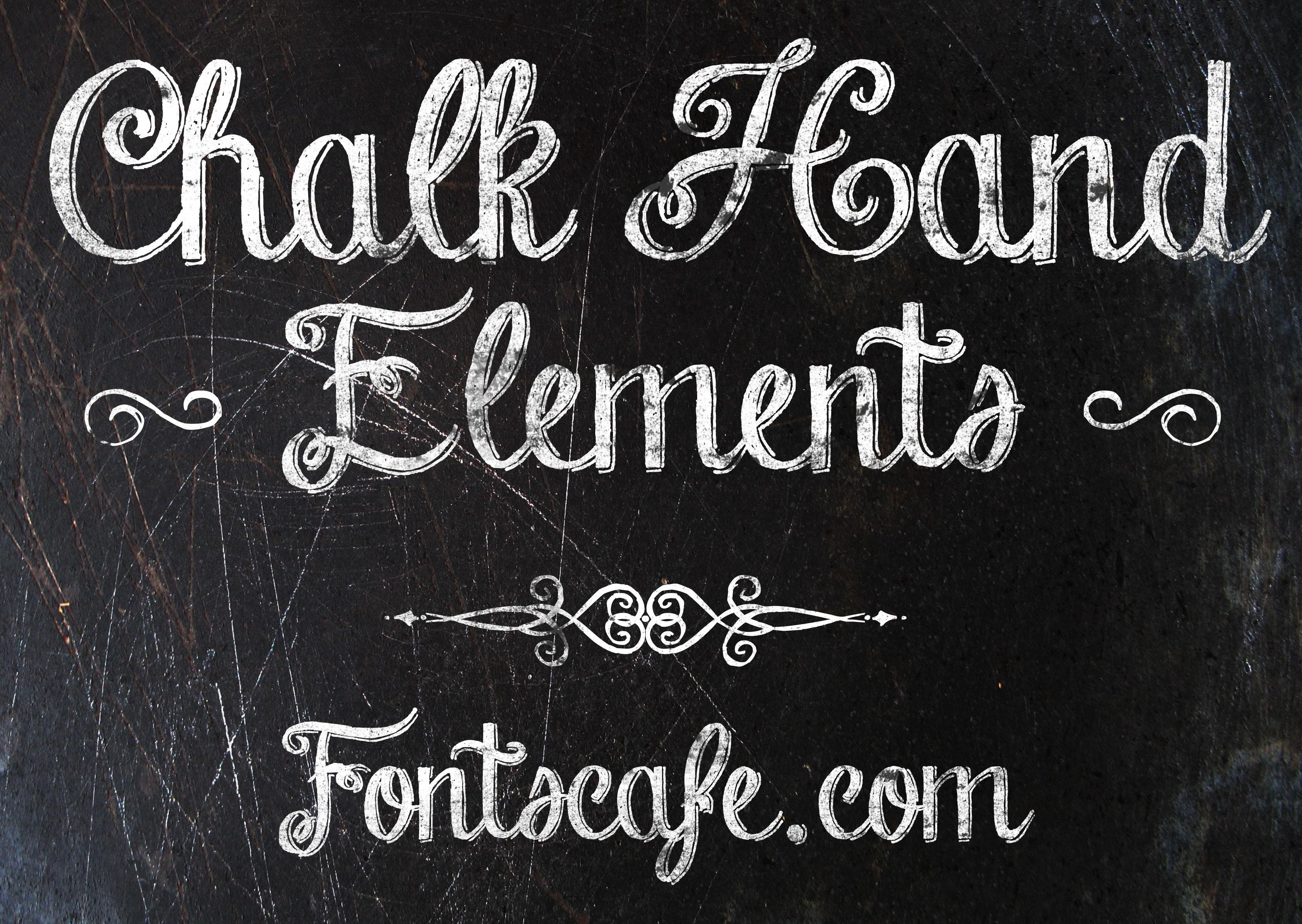 Chalk Hand Lettering Font