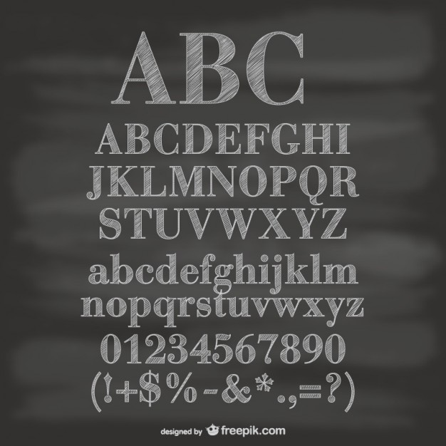 Chalkboard Alphabet Free Download