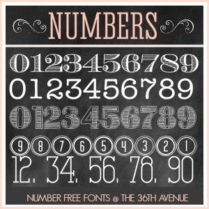 13 Chalk Numbers Font Images