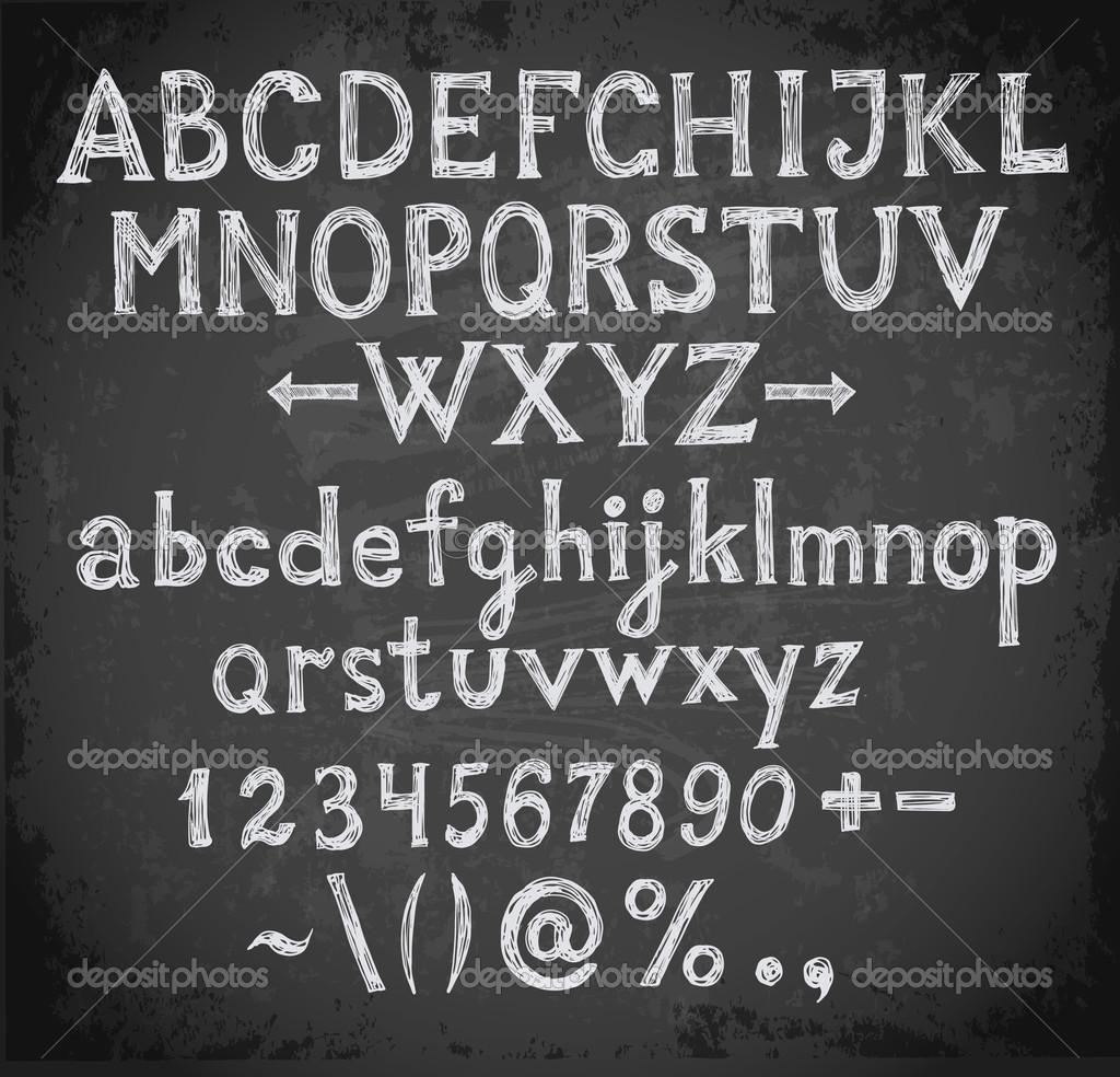 Chalkboard Font Numbers