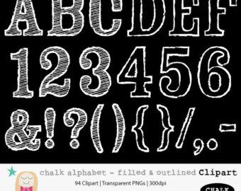 Chalkboard Letters Numbers