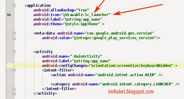 Change Icon in Android Studio App