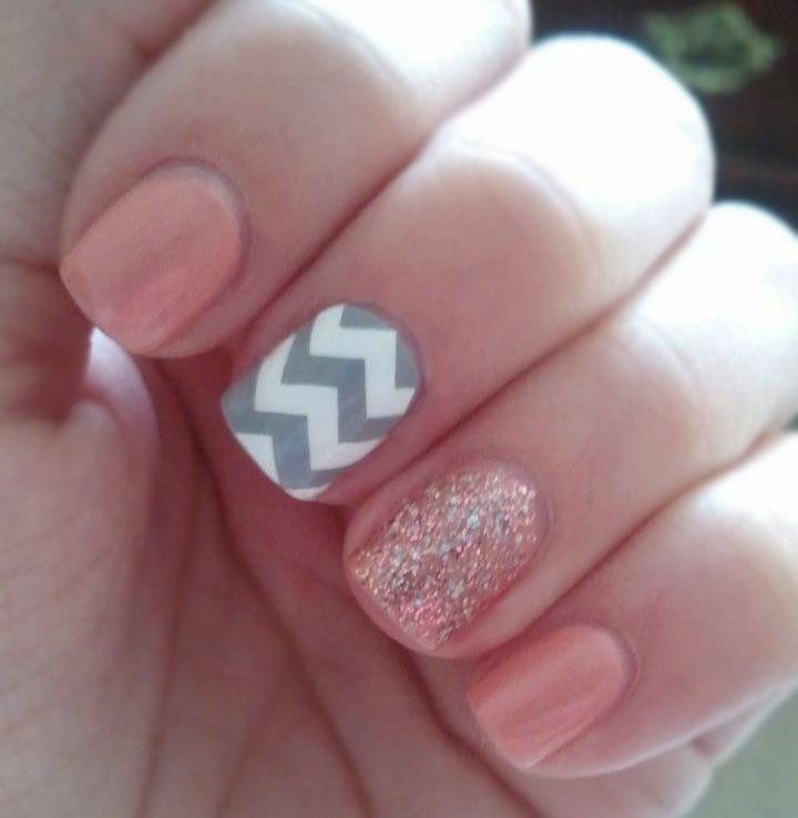 12 Chevron Nail Art Design Images