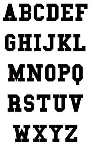 Block Letter Greek Fonts