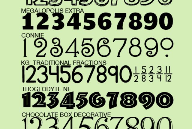 Cool Number Fonts Free