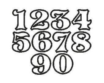 Cool Old English Number Font