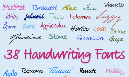Different Types of Handwriting Fonts