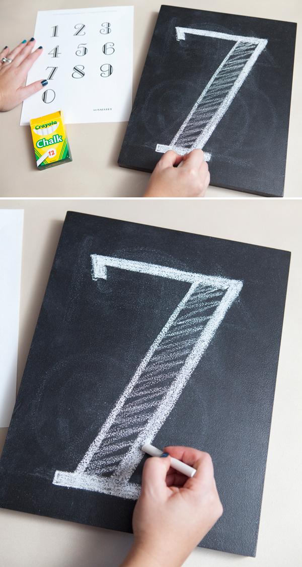 DIY Chalkboard Table Numbers