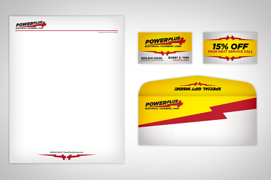 Electrical Business Card Design