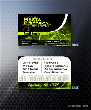 Electrical Company Business Cards