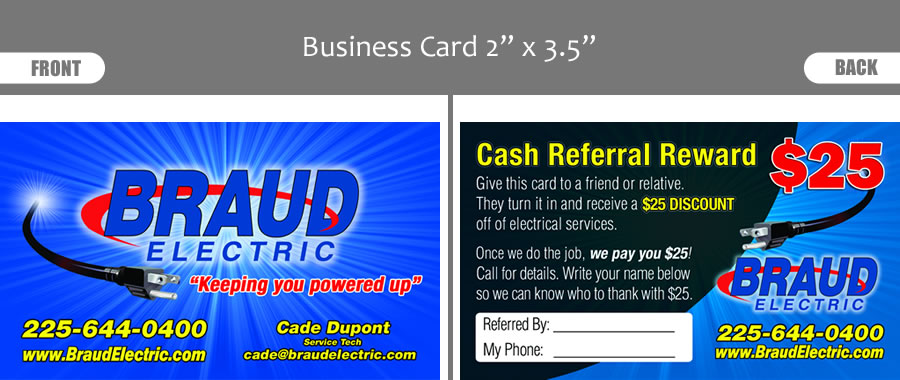 Electrician Business Card Designs