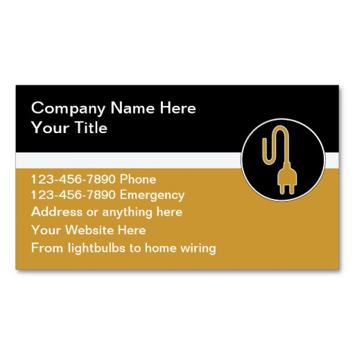 11 electrical business card design ideas images for Electrician business card ideas
