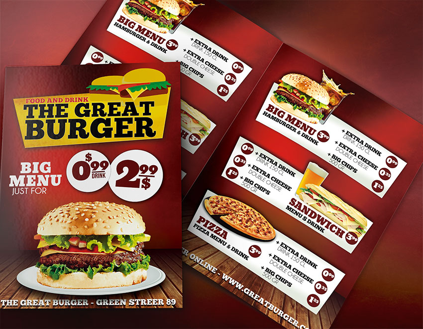 Fast Food Menu Templates