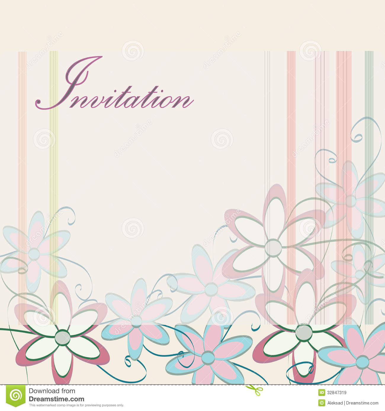 Flower Birthday Party Invitation Template