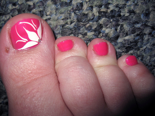 15 Flower Toenail Designs Images