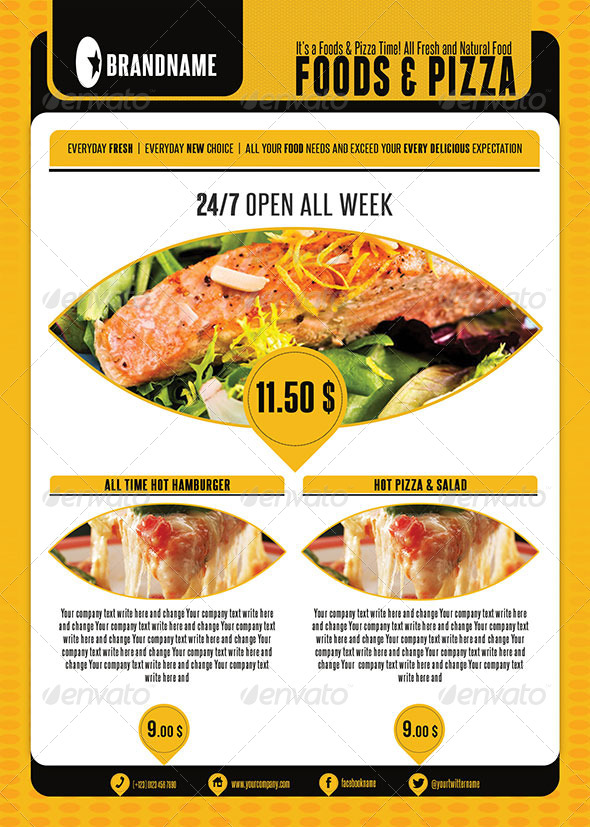 Food Menu Flyer Template
