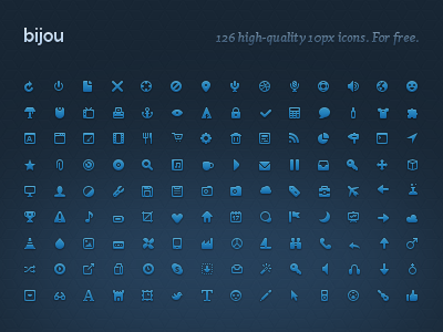 18 Free Icon Sets Blue Images