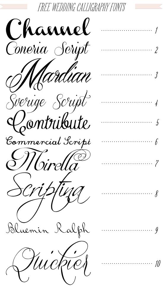 Free Calligraphy Wedding Fonts