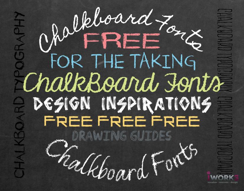 12 Chalkboard Lettering Fonts Images