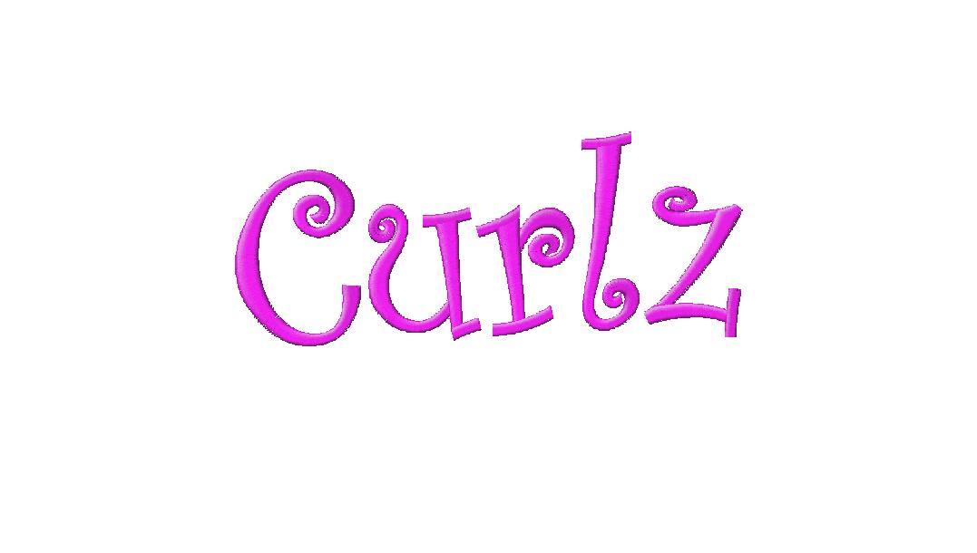11 Curlz Applique Font Embroidery Images