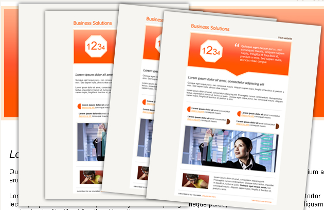 12 Free Psd Newsletter Template Images Publisher