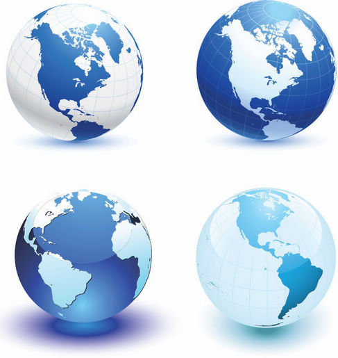 5 World Globe Vector Images