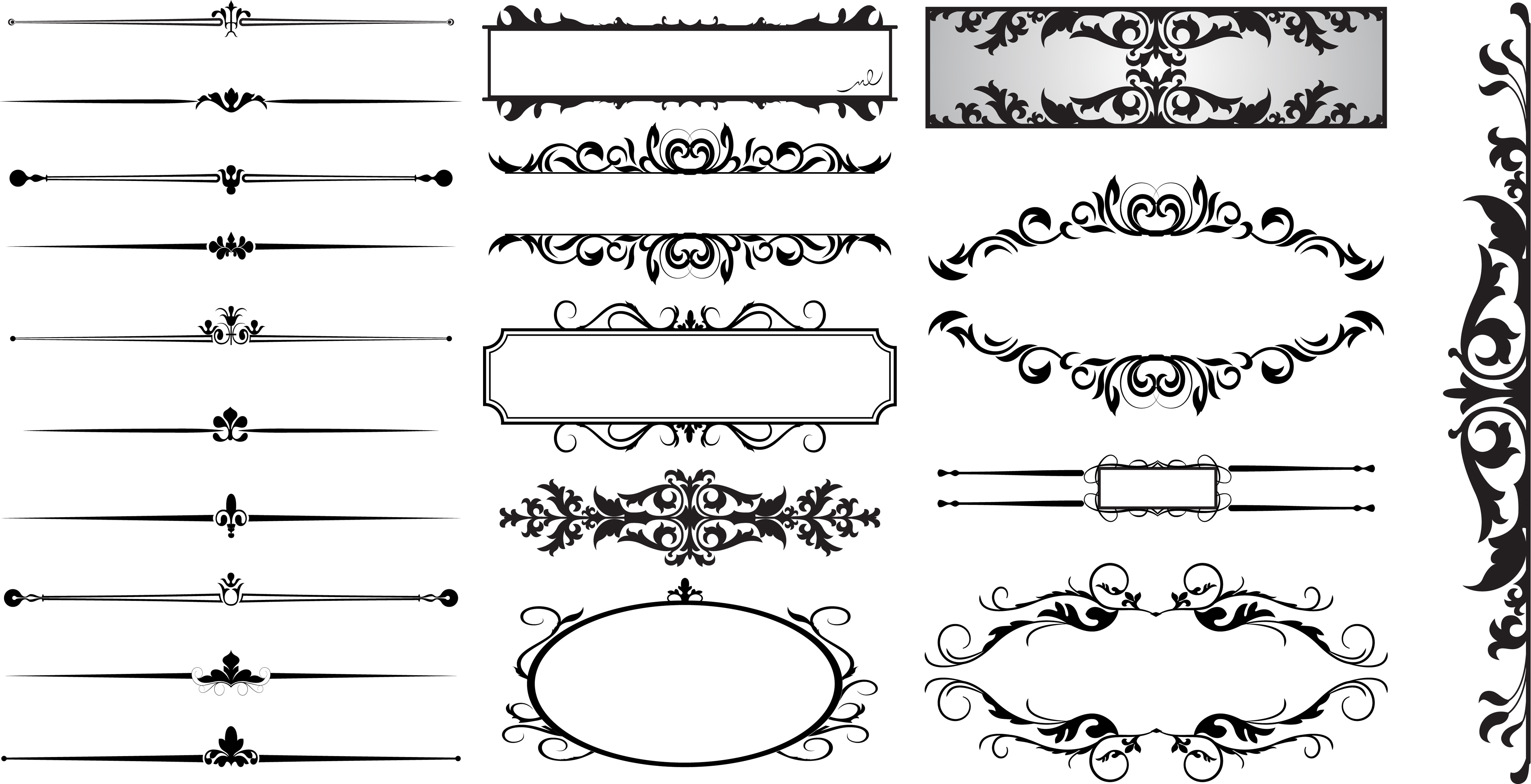 Straight Line Art Templates : Line dividers vector images free decorative