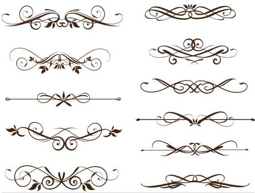 Free Vector Swirl Ornaments