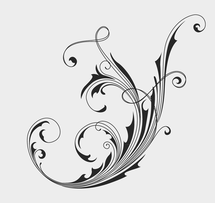 16 Free Vector Floral Swirl Images - Free Vector Swirls, Decorative